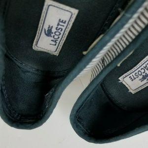 4d63b906248b80 lacoste Shoes - Lacoste canvas women flat Shoes blue white strap